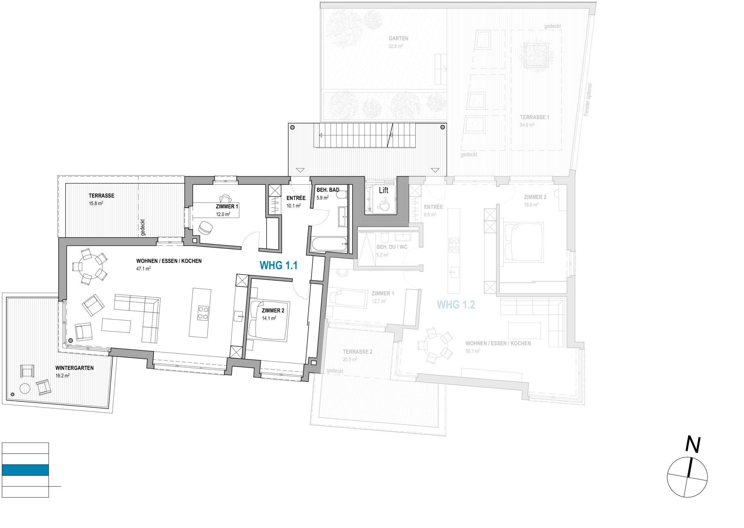 3½-Zimmer | Wohnung mit Wintergarten im Haus Zentaurus – am Lindenweg